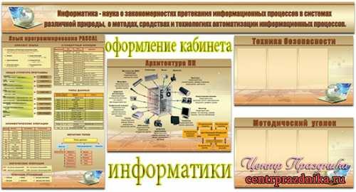 Оформление кабинета информатики в школе