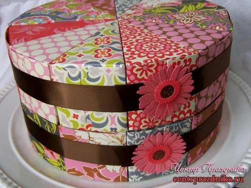 Шаблон бумажного торта. Бумажный торт с пожеланиями